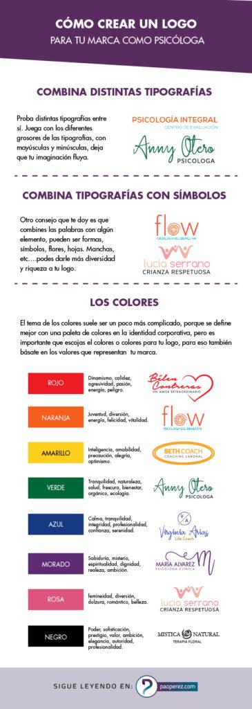 Como crear un logo para tu marca como psicológa #paoperez #logotipo #branding #infografia